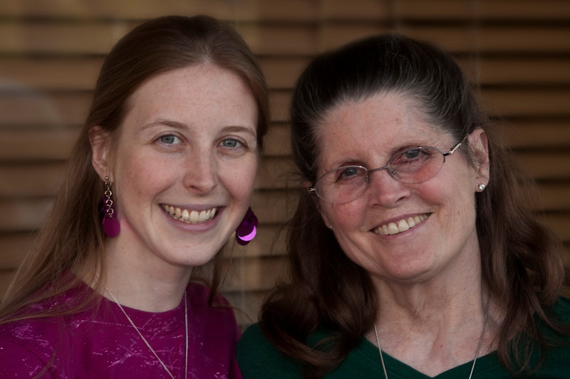 """Hannah """"Baumhover"""" Favela and Donna Perdue outside Jose's Mexican Restaurant on Feb 17th, 2010 in Yacaipa, CA."""