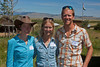 Rebekah Levine, Lousia Carter and Frank Carter at the Center for Earth Concerns in Lakeview, Montana at the Red Rock Lakes National Wildlife Refuge headquarters. Aug 4, 2012.