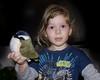 Chloe showing me her bird. Oct 30, 2010.