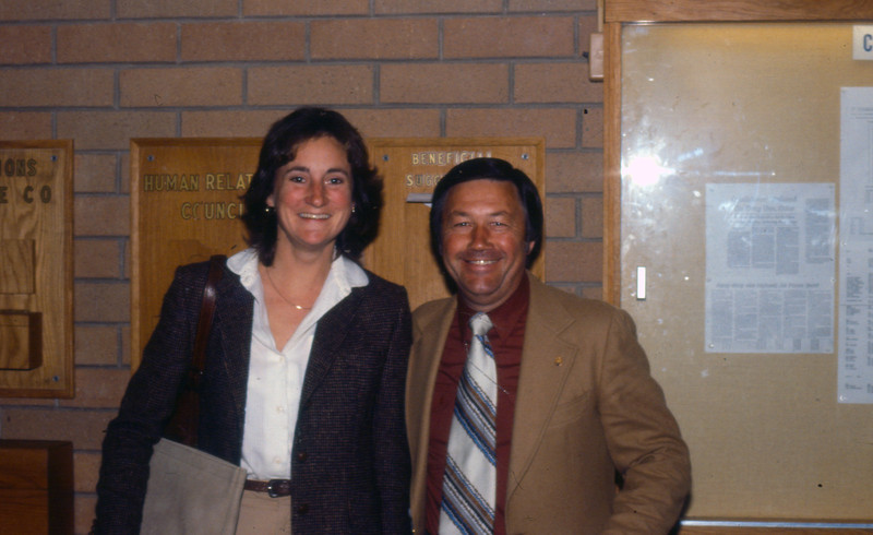 Sue Cooley (CDC) and Bob Sparks of FNOC, Monterey, CA 1980