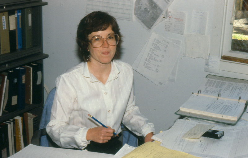 Janet Henize at Fleet Numerical Oceanography Center in Monterey, CA, 1980.