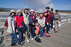 I met these Taiwanese people in Yellowstone. I voluntered to take a group shot and suddenly 4 or 5 of them gave me their cameras and I had to take a picture with each. At the end, I asked them for one more with my camera. They thought that was funny and you see the result.  They asked me to visit their country.  Sep 15, 2008.