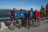 These friends were about to depart the Paulina Lake overlook in Newbury Volcanic Monument (Oregon) (at about 8,000 feet) and ride down to the bottom several miles. October 13, 2010.