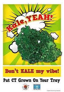 Kale Poster outlines