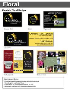Resume page floral  capaldo