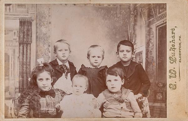 [Don, Victor + Henry top row.  Olive Isom, Dora Hamilton + Arthur.]