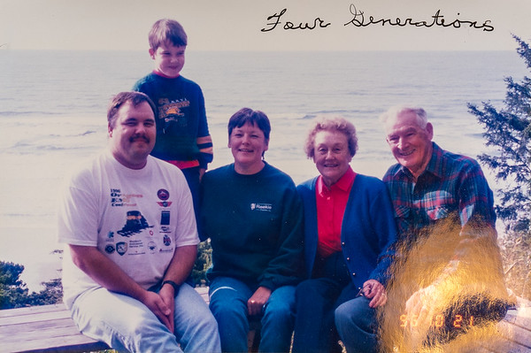 The whole family was here in a rented house at Newport, OR.