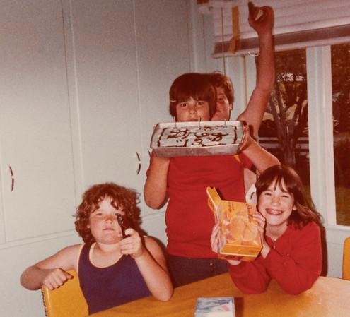 Greg's birthday, age 12 (according to cake) at Grandma & Grandpa Reed's house in Roseburg.
