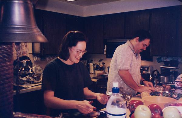 Happy pasta makers.  Newport, Oregon.