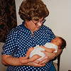 [Michael Andrew Rains 1st visit with great-grandma.] Great-grandma Pauline suffering from the effects of prednisone.