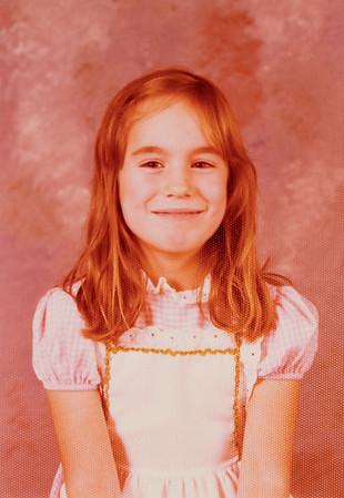 [Jenni Rains Nov 1977] School picture, 7 years old.