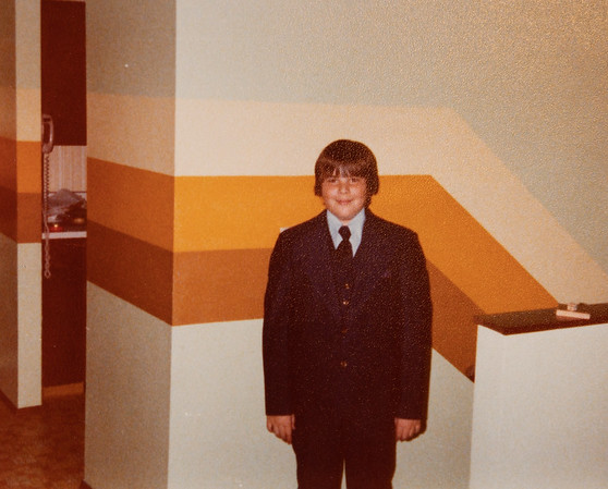 [Greg Rains.  No year given.] I think this was when Greg was baptized.  This is our house in Tigard before we painted!