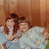 [Dawn + Jennie at Larry's Dec 1976]