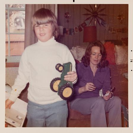 [Greg + Jan Christmas 1974] At Grandma & Grandpa Rains' for Christmas.