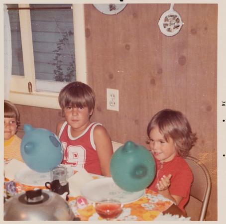 [Greg + Jennie at Jennie's Birthday.  8-24-1974]