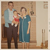 [Grandpa + Grandma Rains + Greg.  Nov 23, 1967] Taken at Aunt Pauline & Uncle Del's house in Sherwood, Oregon.
