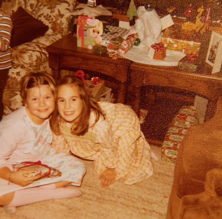 [Dawn + Jennie + Christmas packages.  Dec 27, 1977.]
