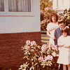 [Jan, Greg + Jenni at Pauline's May 1979.] Note:  This is actually at Don & Lucile Reed's home.