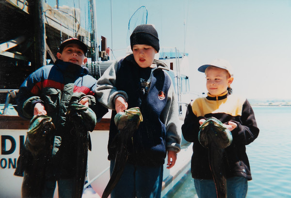 Douglas Gakstatter, Michael, Daniel Gakstatter.  Deep Sea Fishing July 2000.