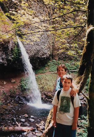 Michael & Grandma Jan at Horsetail Falls.
