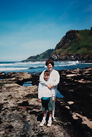 Michael and Mom at the Tide Pools.