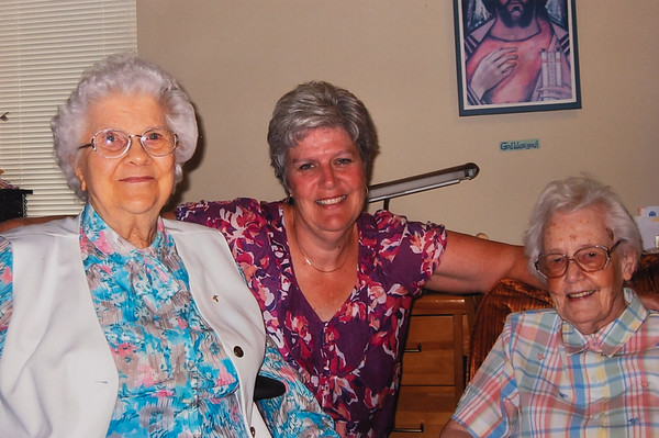 Sister Theresa, me, and Aunt Margaret.