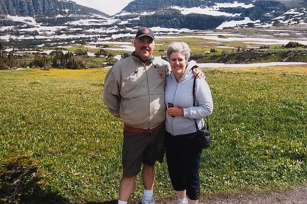 Greg & I at Logan's Pass, Glacier.