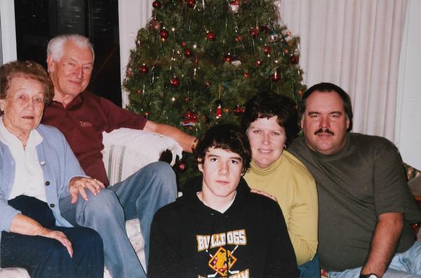 Great-Grandma & Grandpa Reed, Michael, Mom & Dad.