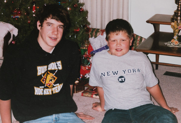 Christmas 2005.  Michael & Eston.  Last Xmas at Great Grandma and Grandpa's house.