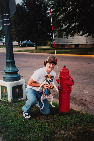 One big fire hydrant.  Michael and Leo.