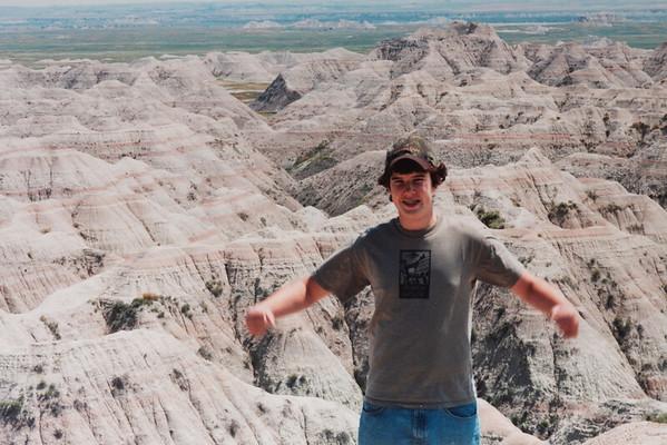 Michael in the South Dakota Badlands National Park.