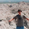 Michael in the South Dakota Badlands National Park.