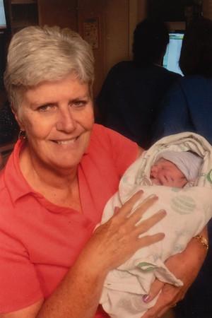 With Grandma Rains.