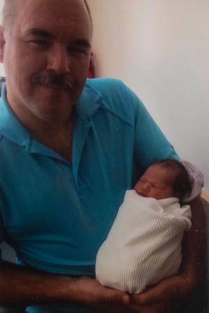 With Grandpa Rains.