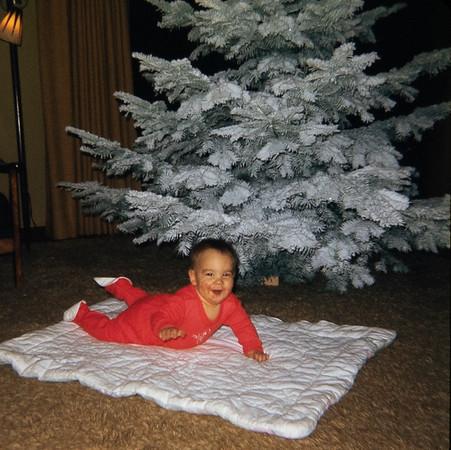 Greg's first Christmas.