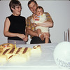 Greg's first birthday.  I made the cake, complete with both a lion's mane and tiger's stripes.  Greg didn't mind.  The guests did mention it.