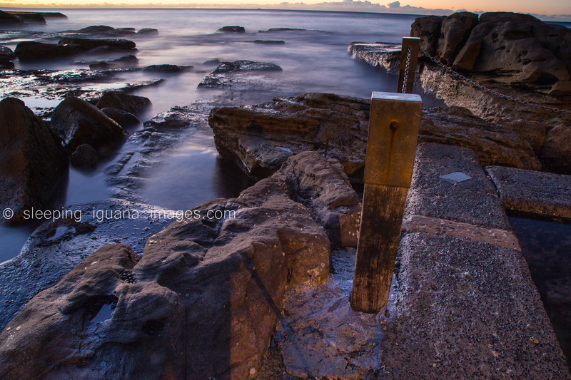 Rock pool at dawn