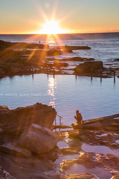Dawn swimming