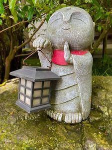 A statue in the Meigetsu-in Temple, built in 1394, near Kamakura, Japan (iPhone 12 Mini)