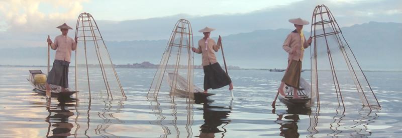 Three Inle Lake Fisherman - 2
