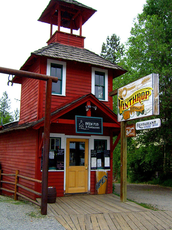 Winthrop Brewing Pub and Resturant. Winthrop, Washington State.  Client: Stock Photography Agency.