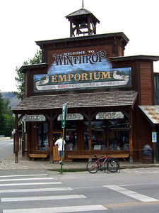 Winthrop Emporium Building, Winthrop, Washington State Client: Stock Photography Agency.  SV100108