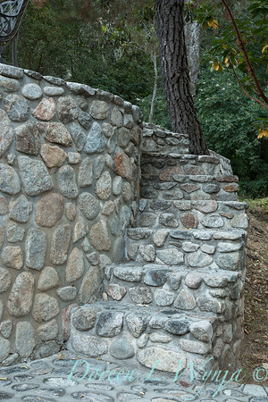 Stonework steps to patio_4504