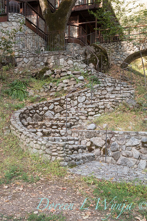 Stonework steps to lower patio_4526