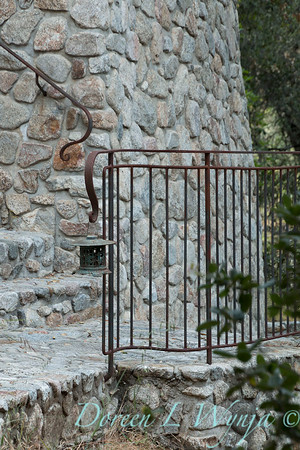 Stonewaok wall and pathway - forged iron railing_5764