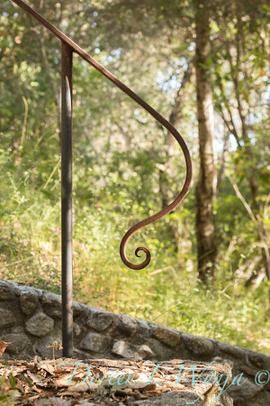 Stonework - forged iron railing_4570