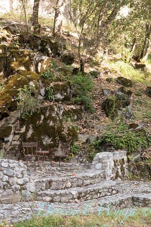 Stonework steps to lower patio_4538
