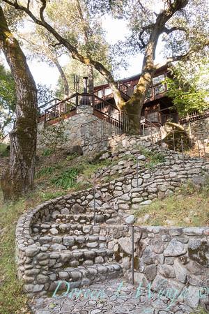Stonework steps to lower patio_4532