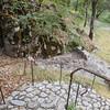 Stonework steps to lower patio_4523