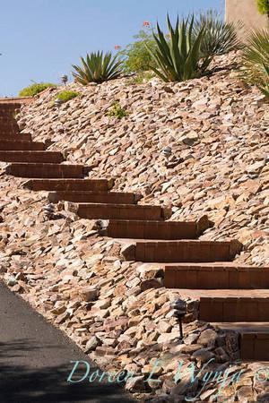 Southwestern brick stone stairway_5726